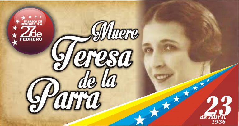23 Muere Teresa de la Parra