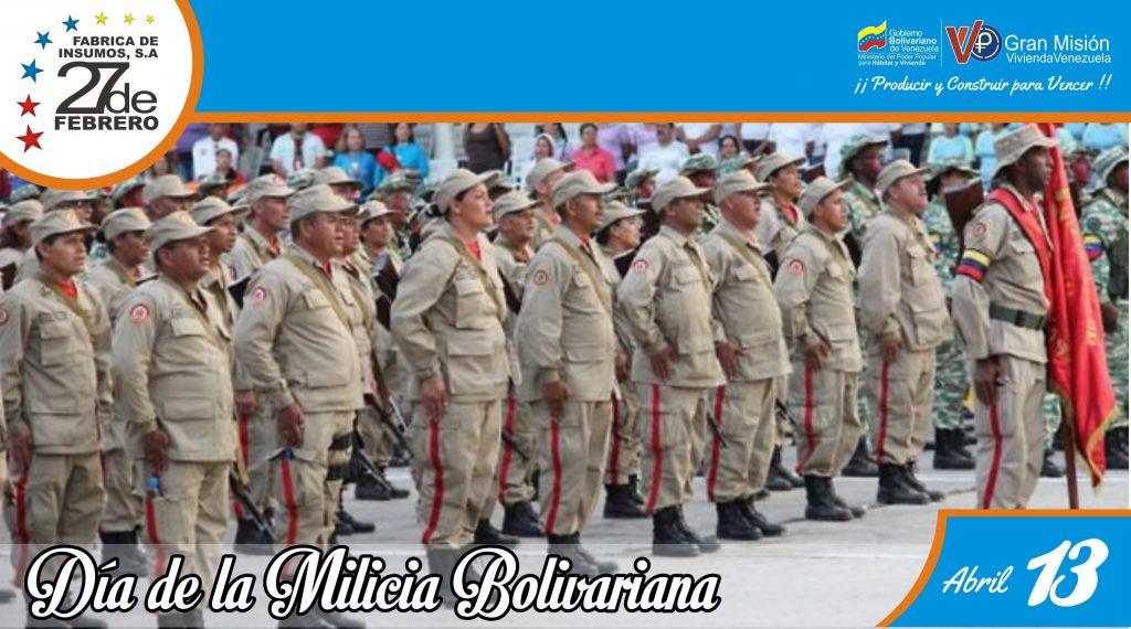 13 Día Nacional de la Milicia Bolivariana
