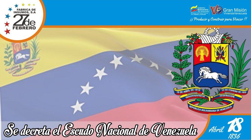 18 Se decreta el Escudo Nacional de Venezuela