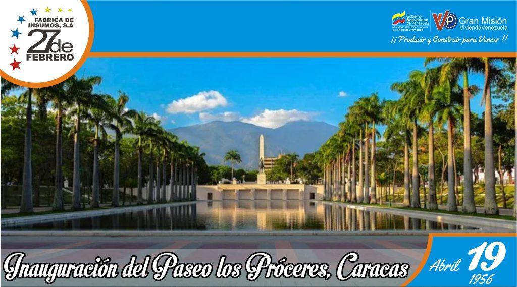 19 Inauguración del Paseo los Próceres, Caracas