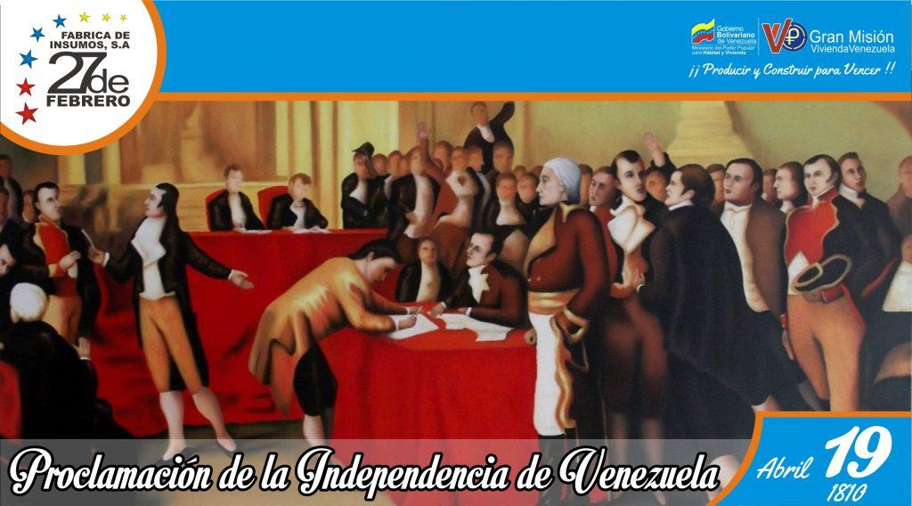 19 Proclamación de la Independencia de Venezuela
